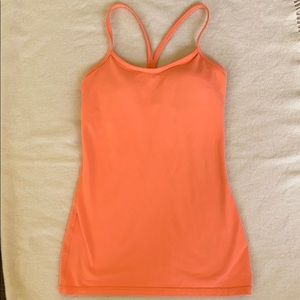 Coral Lululemon Tank with built in Bra. Size 4.